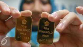 Harga Emas Antam Turun Rp 4.000 per Gram