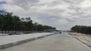 Progres Pembangunan Jalan Tol Pekanbaru - Bangkinang Capai 57 Persen