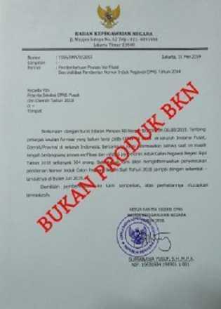 Hati-hati! Beredar Surat Palsu Pengangkatan CPNS