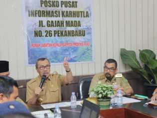 Hari Ini, Gubri Syamsuar Tetapkan Keadaan Darurat Pencemaran Udara di Riau