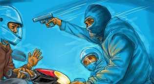Perampok Bersenpi Gasak Duit Rp 200 Juta di Kampar