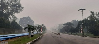 Kabut Asap di Dumai Tebal, Diduga Kiriman Dari Kabupaten Bengkalis