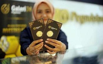Naik! Harga Emas 24 Karat Hari Ini di Pegadaian, Jumat 30 April 2021